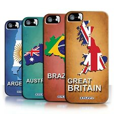 STUFF4 Back Case/Cover/Skin for Apple iPhone 5/5S/Flag Nations