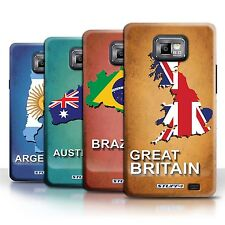 STUFF4 Back Case/Cover/Skin for Samsung Galaxy S2/SII/Flag Nations