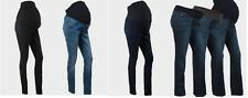 Women Maternity Skinny Trousers Jeans Over Bump Pregnancy Clothes Size 8 to 18