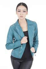Ladies Studded Biker Jacket in 5 Colours
