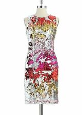 BELLE BADGLEY MISCHKA French Connection style MULTICOLOR SEQUIN DRESS SZ 2 XS S