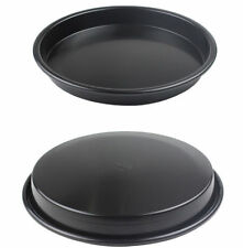 1pc Stainless Steel Non-Stick Dish Pizza Pans Bakeware Baking Tool