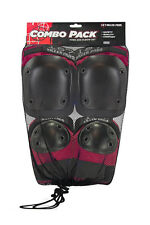 187 Killer Pads -Adult combo knee & elbow pads - Red ( XS , S/M , L/XL )