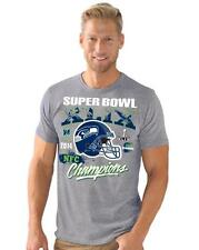 Seattle Seahawks Conference Champs Road to Super Bowl XLIX (49) T-Shirt -  Gray