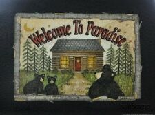 "LS737 Welcome To Paradise Cabin Linda Spivey 12""x16"" framed or unframed print"