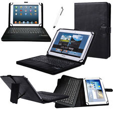 Universal Bluetooth Keyboard Leather Stand Case Cover For 7~10.5 Inch Tablet PC