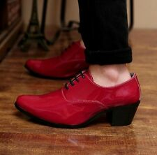 MENS SMART SHOES FORMAL OFFICE WORK CASUAL LACE UP PARTY DRESS BOYS SIZE