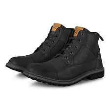Original Penguin Leather Dalston Full Lace Up Boots - Black