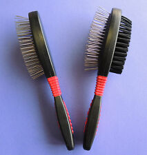 Jeffers Dog Cat Pet GROOMING SINGLE or DOUBLE-SIDED PIN or PIN & BRISTLE BRUSH