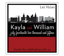 Destination - Square Custom Favor Stickers/Labels - Wedding/Shower Personalized