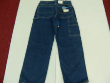 DICKIES CARPENTER JEANS WORK DUNGAREES HEAVY COTTON STONEWASHED 7 BELT LOOPS NWT