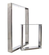 2 x Metal Table Legs  - Striking Chic Design in Choice of Clear Or Black