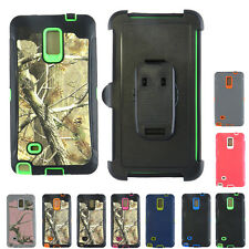Dual Layer Case w/ Built-in Plastic Screen +Holster for Samsung Galaxy Note 4