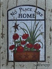 "LS1119 No Place Like Home Linda Spivey 9""x12"" framed or unframed print art"