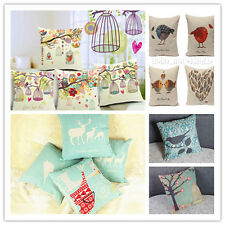 Colorful Cotton Linen Throw Waist Pillow Case Sofa Cushion Covers Square