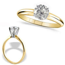 0.5 Carat G-H SI1 Round Diamond 14K Yellow Gold Solitaire Engagement Bridal Ring