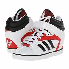 Womens Adidas Amberlight Up Wedge Sneakers New, White Red VALENTINE'S DAY M20828