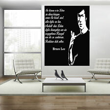 Wandtattoo Bruce Lee Realisiere dich selber