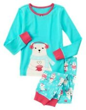 GYMBOREE SLEEPWEAR COZY COCOA BEAR 2pc PAJAMAS GYMMIES 12 18 2 5 6 7 8 10 NWT