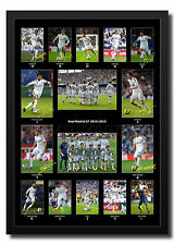 REAL MADRID PRINT PHOTO PICTURE POSTER SIGNED AUTOGRAPH 2014 2015 RONALDO BALE