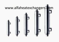 Titanium Shell & Tube Heat Exchanger - Swimming Pool, Spa, Chlorinated, Boiler