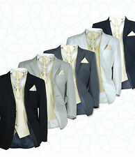 SIRRI Boys 5PC Formal Wedding Suits, Gold Cravat Prom Page Boys Suit Age 1 to 15