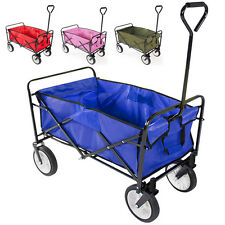 Collapsible Folding Wagon Cart Garden Buggy Shopping BeachToy Sports Red/Blue US