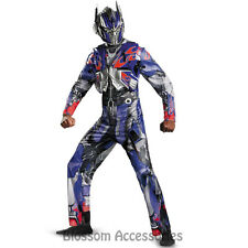 C668 Mens Transformers Optimus Prime Deluxe Halloween Hero Adult Costume Outfit