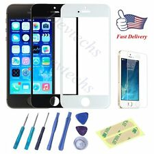 for Apple iPhone 5S Front Outer Glass Lens Screen Replacement Repair Kit Tools