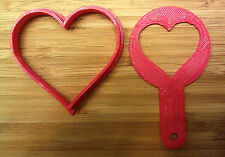 Valentine - Heart Cookie Cutter and Free Heart Coffee Stencil - Choice of Sizes