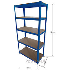 1/2/3 Bay Shelving 5 Tier Garage Workshop Heavy Duty Racking *Multilisting*
