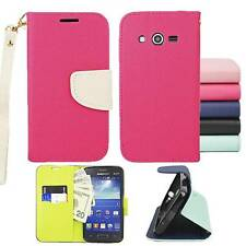 For Samsung Galaxy Avant/G386T Premium Wallet Pouch Cover Case PU Leather Stand