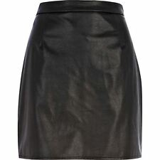 River Island leather-look A-line skirt