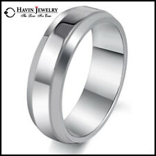 Hot! Mens Brief Style Titanium Stainless Steel Wedding Band Rings Size 7-13 NAU