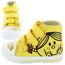New Girls Little Miss Sunshine Canvas Boots Shoes Footwear Size 4 5 6 7 8 9 10