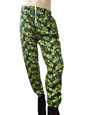 Fleece Sweat Pants Marijuana Print - Big & Tall Sizes Smal - 9/10XLT - USA Made