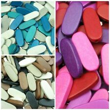 13x5x30mm Flat Oval Shaped Philippine Wooden Craft Beads - High Quality