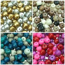50 g - Wooden Rondelle Round Spacer Beads - Mixed - Jewellery Making Craft