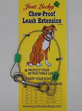 CHEW-PROOF Dog Leash Extension Retractable Leash Saver JUST LUCKY DOG Free Ship!