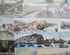 Postcards - CORNWALL - Topographical Artist signed - PAINTINGS - Choice of 12