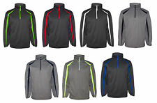 Badger Mens Fusion Colorblock Polyester Fleece Quarter-Zip Pullover (1481)