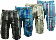 Mens Cargo Shorts Checked Abercrombie & Fitch Casual Cargo Check Shorts BNWT