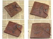 Leather Wallet Pockets Card Clutch Cente Bifold Purse Money Clip Card Holder hs6
