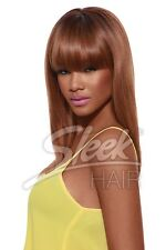 SLEEK TONGABLE SYNTHETIC STRAIGHT OMBRE WIG  WITH BANGS SINEAD FREE WIG CAP