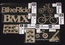 SCRAP FX Chipboard 'BIKE/BMX' Embellishments (Choose from 8 designs) Cycle