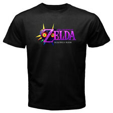 THE LEGEND OF ZELDA Majora's Mask Logo Video Game Men's Black T-Shirt Size S-3XL