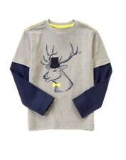 GYMBOREE WOODLAND PARTY COOL DRESSY ELK  DOUBLE SLEEVE TEE 5 6 7 8 NWT