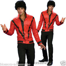CL336 Michael Jackson Red Thriller Jacket Halloween Adult Fancy Party Dress Up