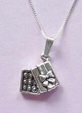 Box of Chocolates Pendant & Chain Necklace STERLING SILVER 925