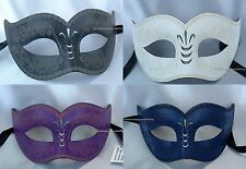 Men and women Leather Costume Masquerade Ball bachelor black tie prom party Mask